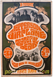 Jefferson Airplane, grateful dead poster